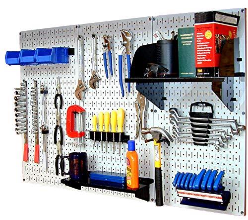 (Wall Control 30-WRK-400WB Standard Workbench Metal Pegboard Tool Organizer (Renewed) )