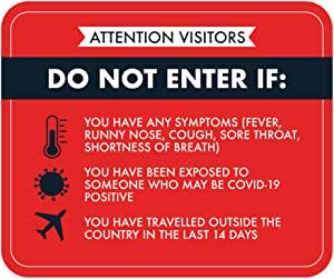 Sticker INDIGOS UG Safety Warning School Company Hotel COVID-19 Prevention Measures Sign 177mmx254mm Decal for Office