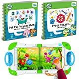 LeapFrog LeapStart Preschool and Pre-Kindergarten Interactive Learning System For Kids Ages 2-4 With 2 Junior Activity Books: STEM And Math and Social Emotional Skills Fun Activity Bundle Set