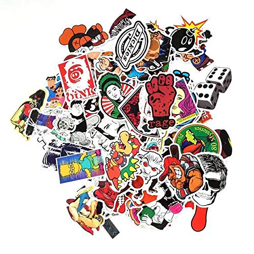 100 Pieces Vinyl Waterproof Stickers for Car, Laptop, Luggage, Skateboard, Motorcycle, Bicycle Decal Graffiti Patches