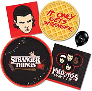 Stranger Things Party Supply Kit- Tableware Set for 16 with Paper Plates and Napkins by Amscan