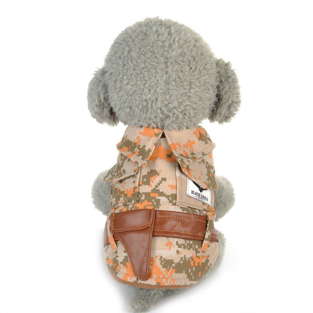 Pet Dog Puppy Warm Camouflage Print Kleidung Shirt Sleeveless Elegant Kost/üm