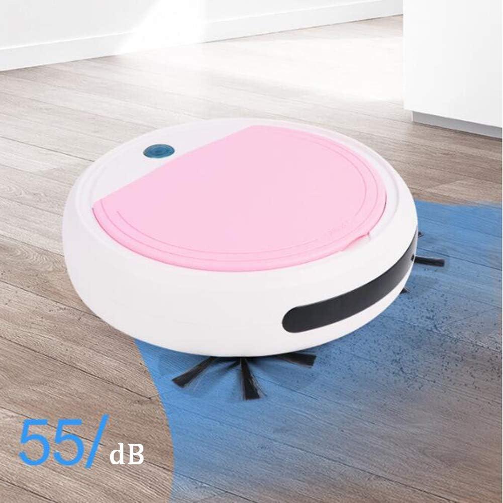 LAHappy Robot aspirateur Navigation Intelligente 55dB Silencieux Système de Nettoyage Puissant pour Les Poils d\'animaux,White Green Black Pink