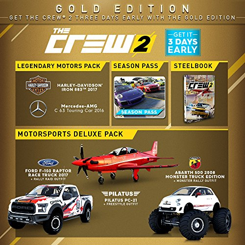 the crew 2 gold edition playstation 4 gold edition. Black Bedroom Furniture Sets. Home Design Ideas