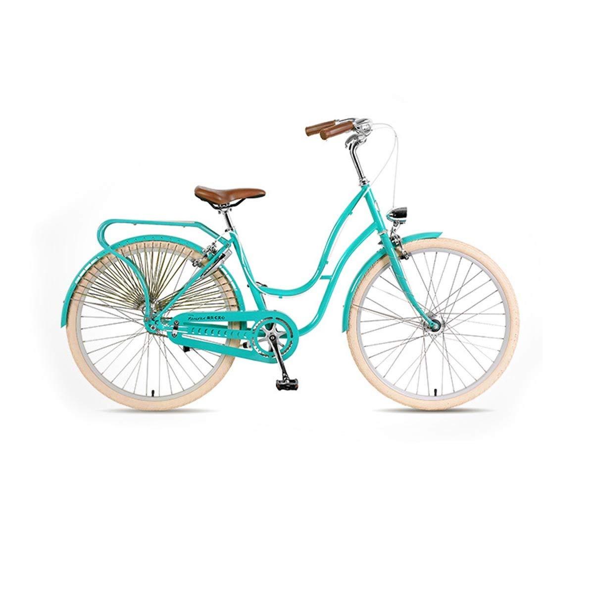 レトロな自転車、26インチ、シンプルでスタイリッシュな女性の文学自転車、都市通勤用自転車 (Color : Light 青) Light 青