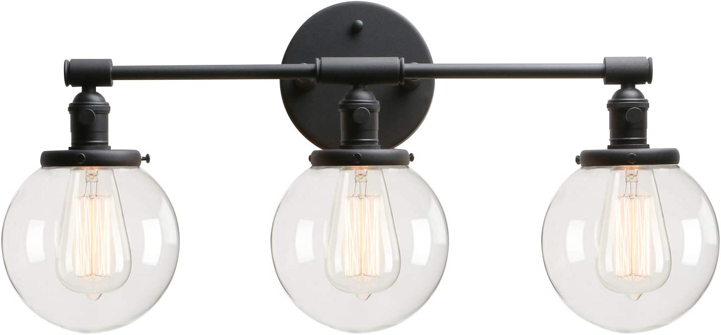 Permo Vintage Industrial Antique Three-Light Wall Sconces with Mini 5.9
