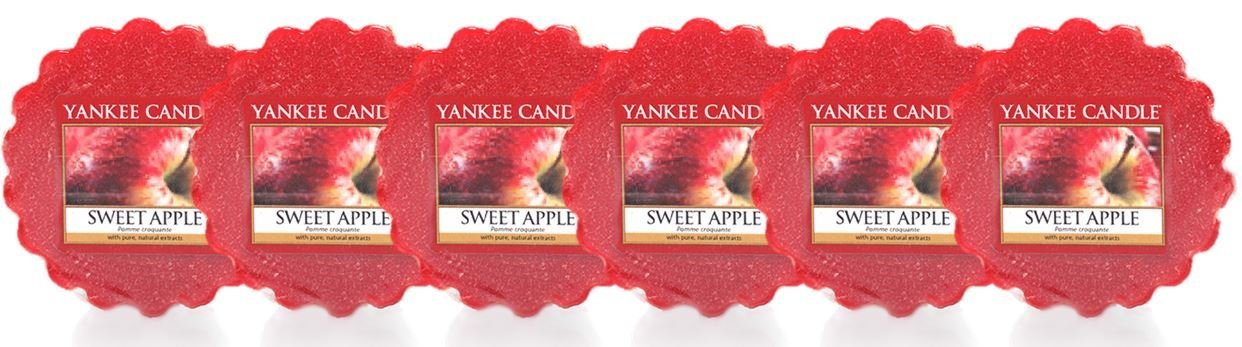 YANKEE CANDLE 1304330E Sweet Apple Candele in giara grande, Vetro, Rosso, 9.9x9.8x16.7 cm