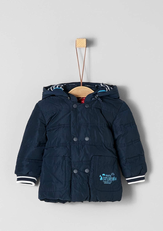 Kapuze Baby 5098 s.Oliver Schlicht Navy Blaue Babyjacke mit Fleece Futter abnehm
