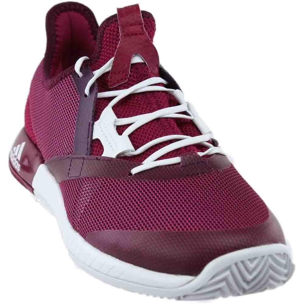 adidas Women's Adizero Defiant Bounce w Tennis Shoe, Mystery Ruby/White/Red Night, 7.5 M US