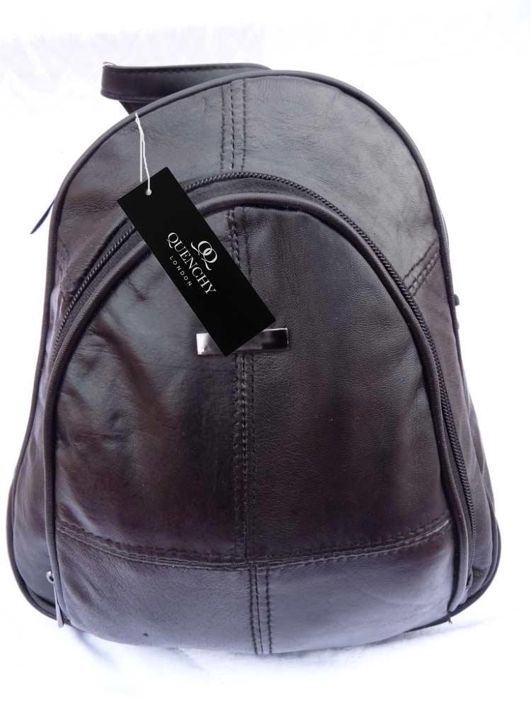 da2598eb3e Soft Leather Ladies Womens Backpack Rucksack Handbag Quenchy London QL948   Amazon.co.uk  Luggage