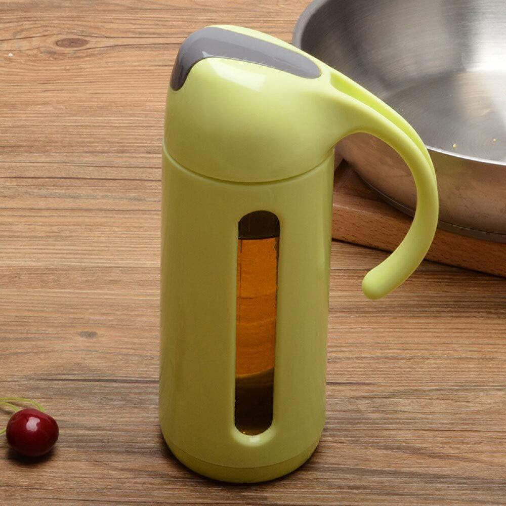 Verde con Manico beccuccio versatore a Prova di perdite per condimento per Cottura o Insalata Dailymall Oliera di aceto di Vetro per Bottiglia di Olio doliva Duarable Confezione da 1