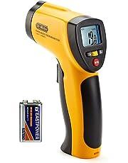 Dr.Meter IR-20 Termometro Pistola Digitale ad Infrarossi per Esterni/interni con Fondina, Range da -50 a 550°C; funzione trattenimento massimo/minimo, batteria inclusa, 12 mesi di garanzia
