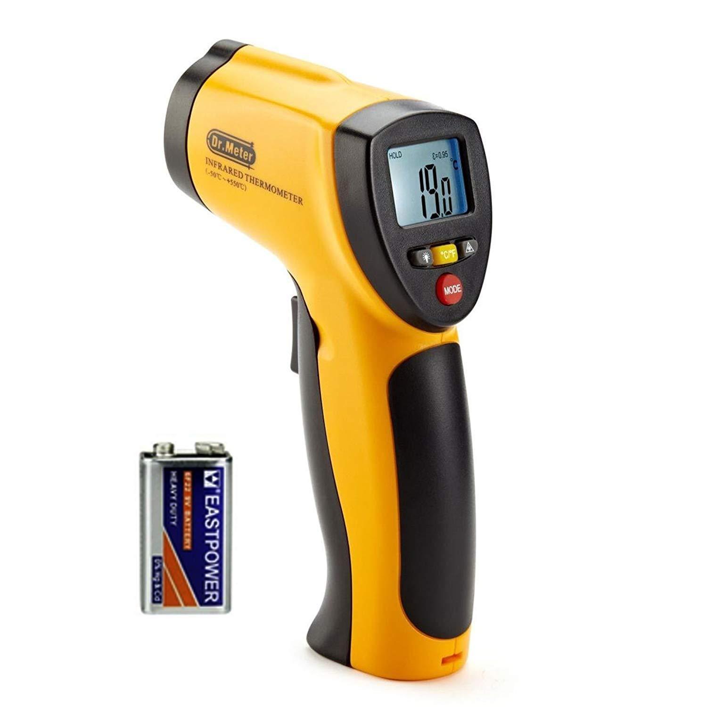 Termómetro Pistola Digital IR para exterior/interior, Rango de -50a 550°C