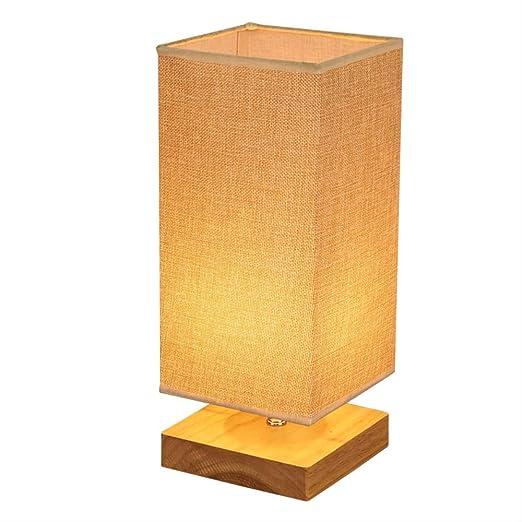 Lampe En Bois Massif Créatif Mariage Chaud Lampe De Chevet