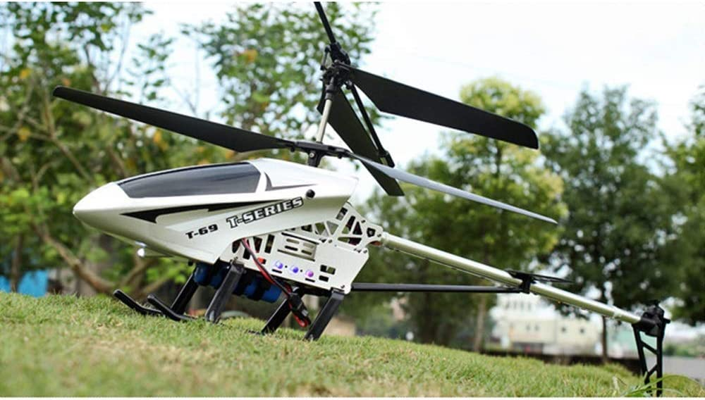 OUUED Giant Large Outdoor 85CM RC Helicopter with Gyro LED Light Radio Remote Control 3.5 Channels Helicopter Boy toy Aircraft Kids Drone Beginner easy to operate for Kids Age 6+
