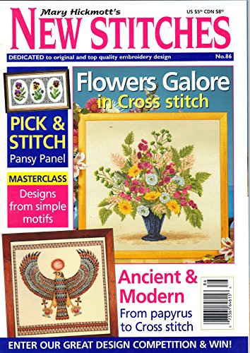 Mary Hickmott's New Stitches - Counted Cross Stitch Pattern Magazine from England - 2000 - #86 Counted Cross Stitch Magazine