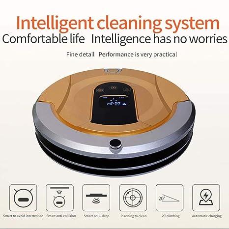 SPFAZJ Robot aspirador aspiradora inteligente mojado seco reserva de sincronización automática de pared Virtual