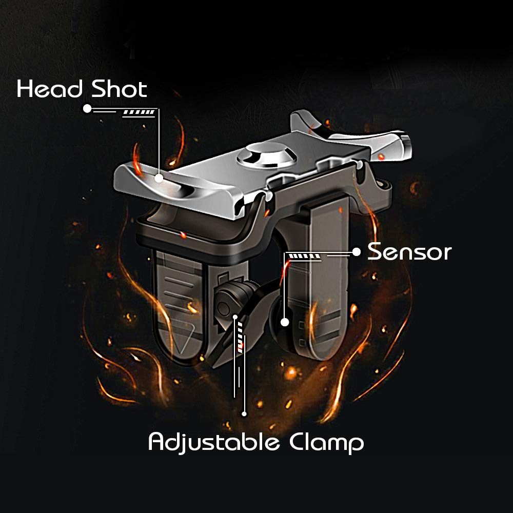 Fortnite PUBG Trigger Mobile Controller - [Upgraded Version] PUBG Mobile Trigger,L1R1 Shooter Trigger Buttons for PUBG/Fortnite/ Rules of Survival for Android & iPhone