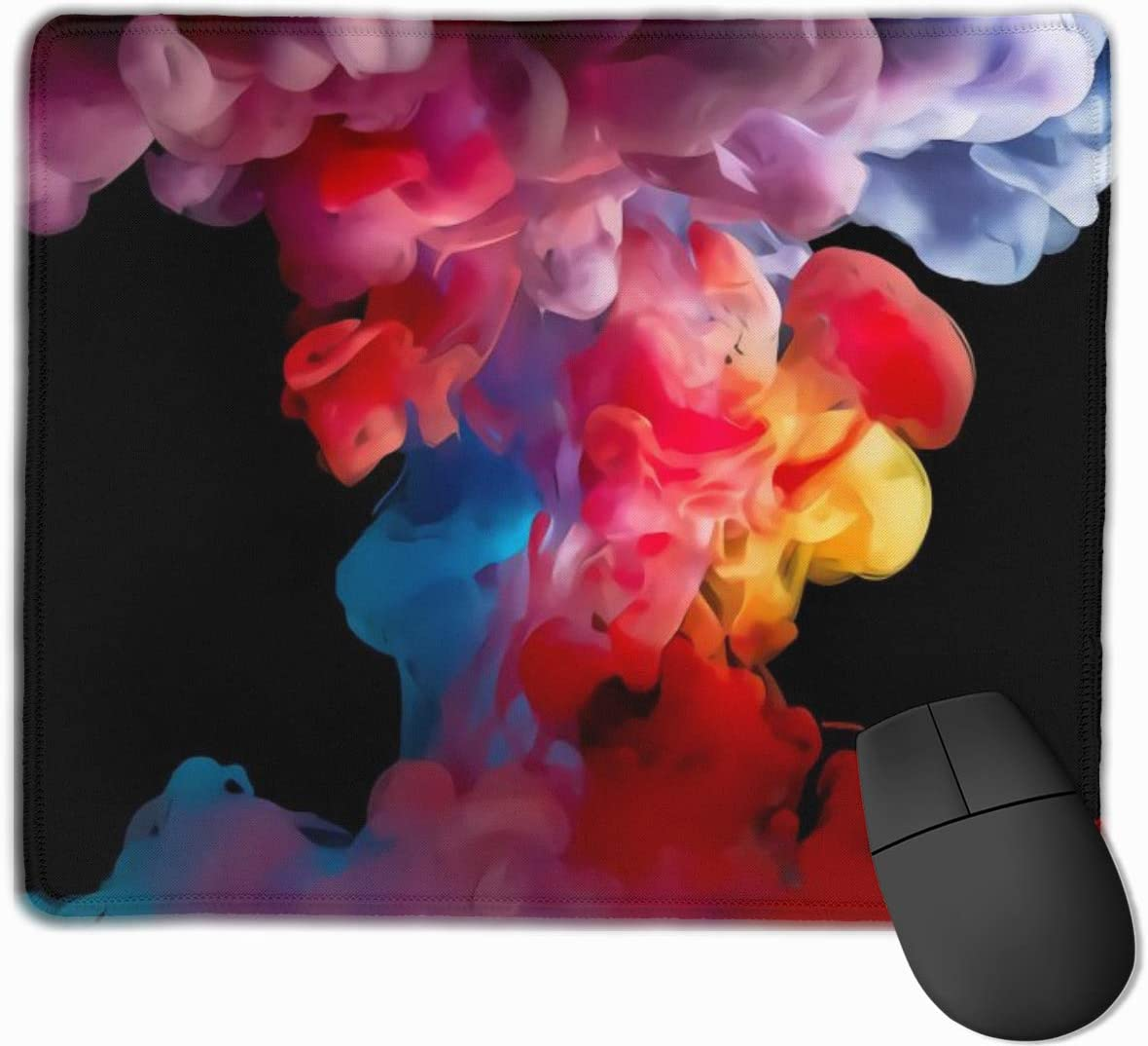 Color Smoke Cool Mouspad Gaming Mouse Pad with Stitched Office Mouse Pad Mousepad for Laptop,Computer /& PC 9.8x11.8