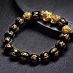 Beads Bracelets for Men, Fengshui Wealth Natural Healing Stone Bracelet for Luck Men Women Elastic Anxiety Chakra…