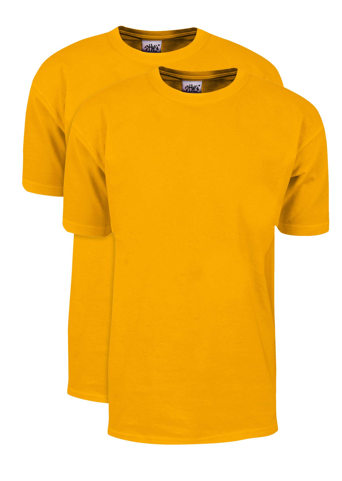 MHS11_L Max Heavy Weight Cotton Short Sleeve T-Shirt Gold L 2pk