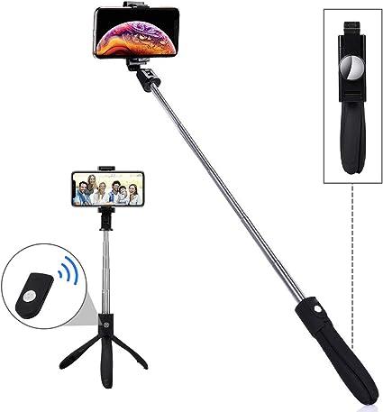 comprar LATEC Palo Selfie Trípode, Selfie Stick Extensible con Mando a Distancia Inalámbrico por Bluetooth para Móviles de 3.5 a 6 Pulgadas como iPhone, Samsung Galaxy, Huawei, Xiaomi