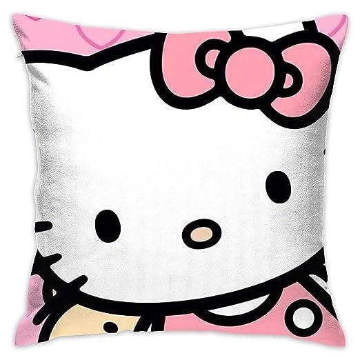 Meirdre Funda de Almohada Hello Kitty Rosa corazón ...
