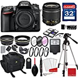 Nikon D7200 DX-format Digital SLR w/AF-P DX NIKKOR 18-55mm f/3.5-5.6G VR Lens + 3pc Filter Kit + Professional Accessory Bundle