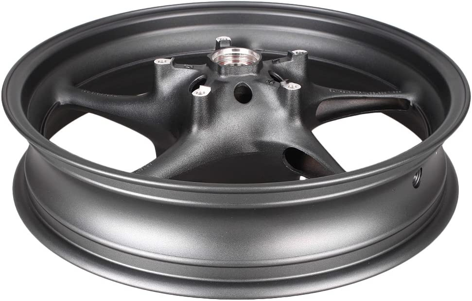 GZYF Front Wheel Rim W//Bearing For YAMAHA YZF R6 2003-2016 /& R6S 2003 2004 2005 2006 2007 2008 2009 Black
