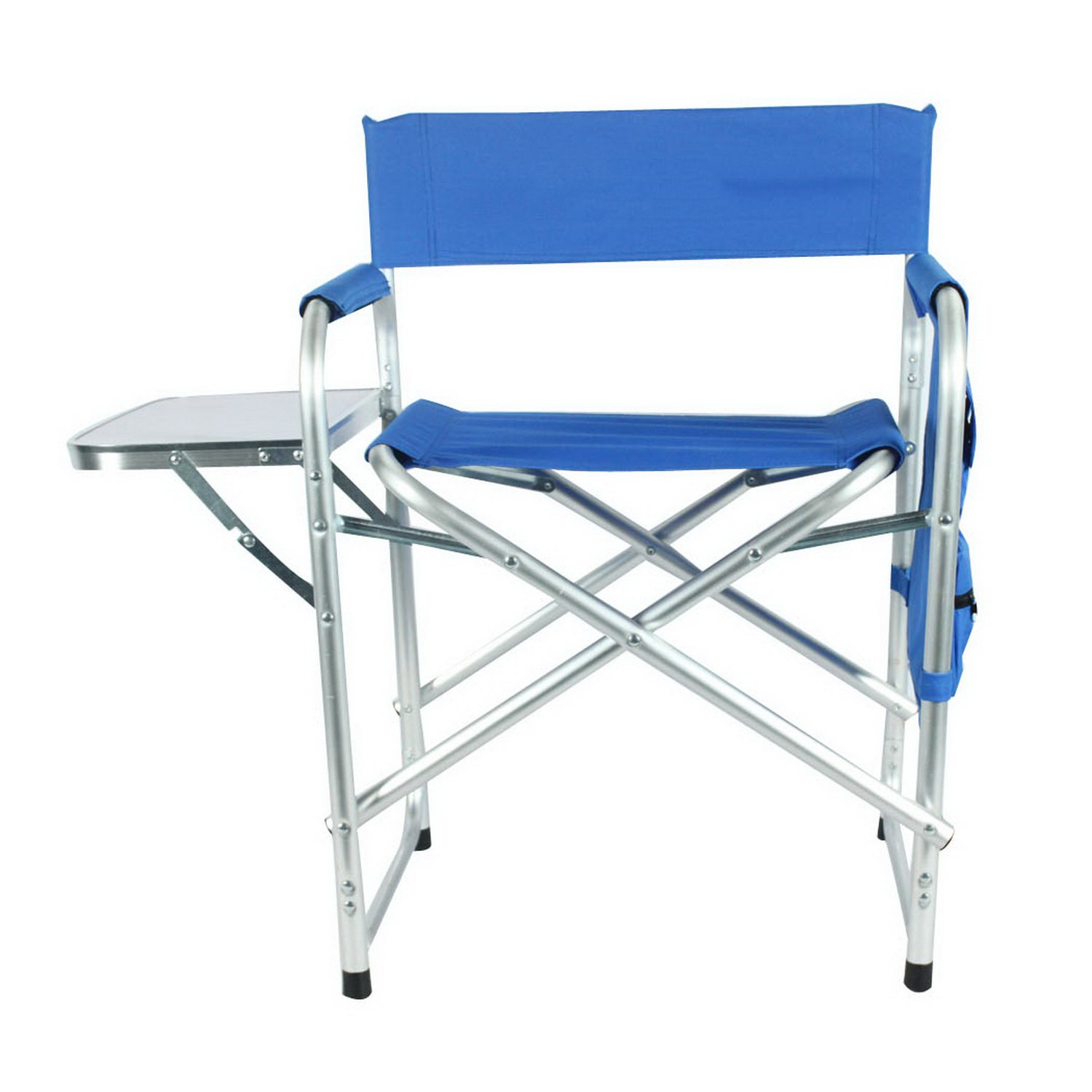 Aluminum Portable Director's holder Folding Chair with Side Table Supports 300lbs