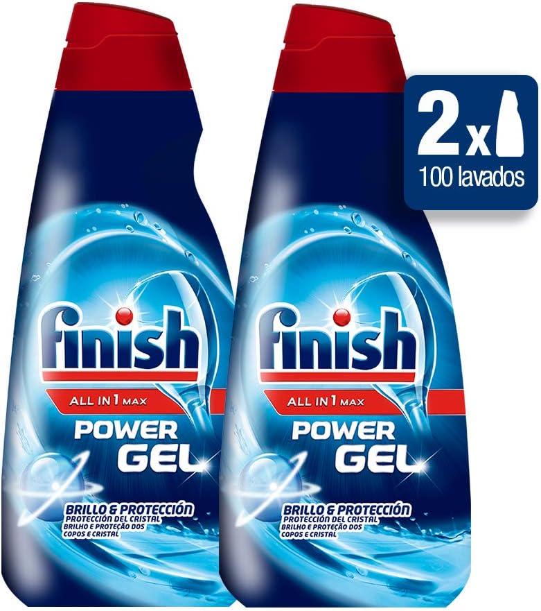Finish All in 1 Max Power Gel Brillo & Protección Detergente Gel ...