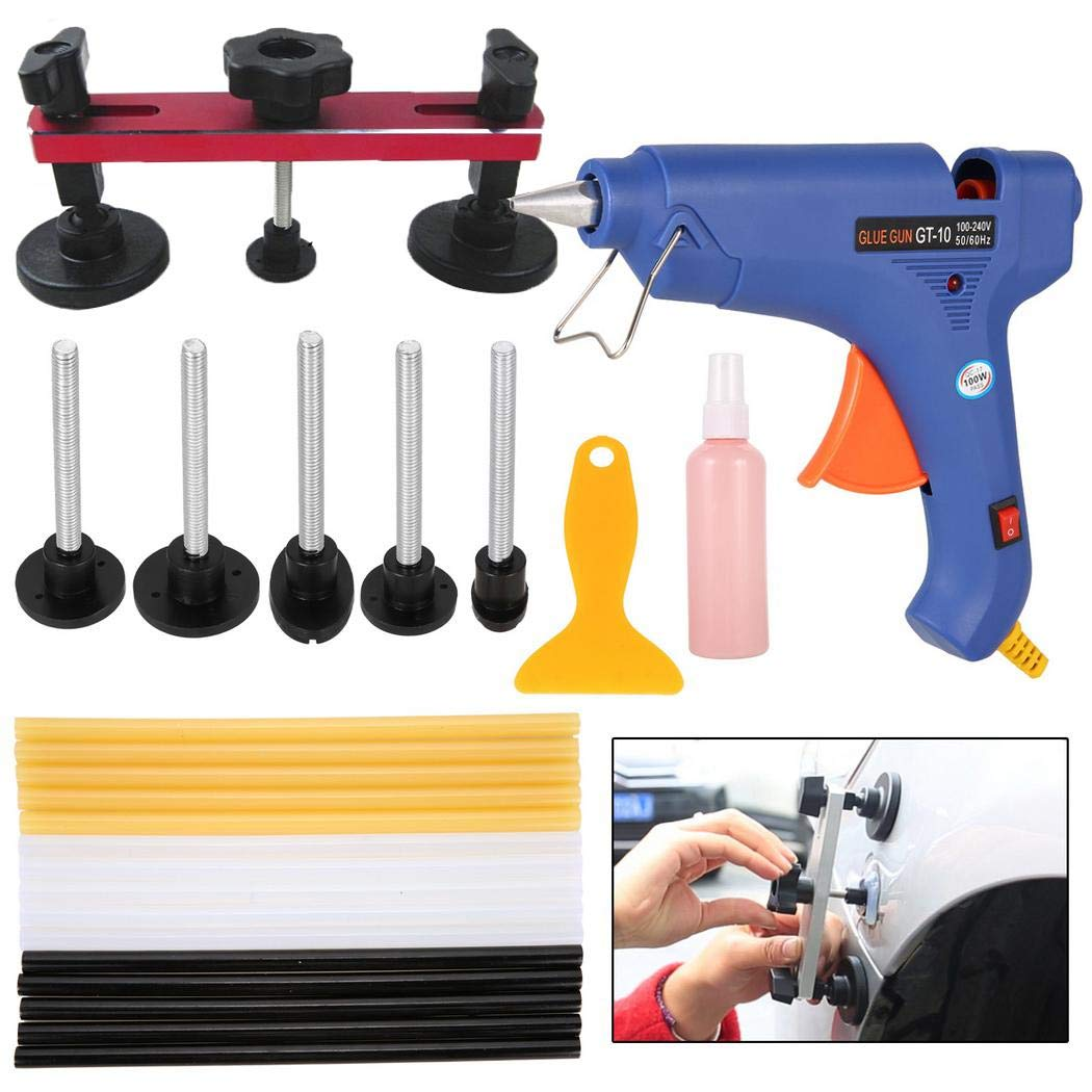 Germanen Paintless Dent Repair Dent Puller Bridge Auto Car Dent Removal kits Glue Gun Set Repair Kits by germanen