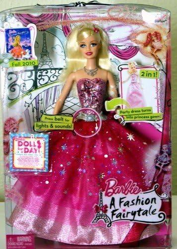 Amazon Com Barbie A Fashion Fairytale Doll Box Set Toys Games