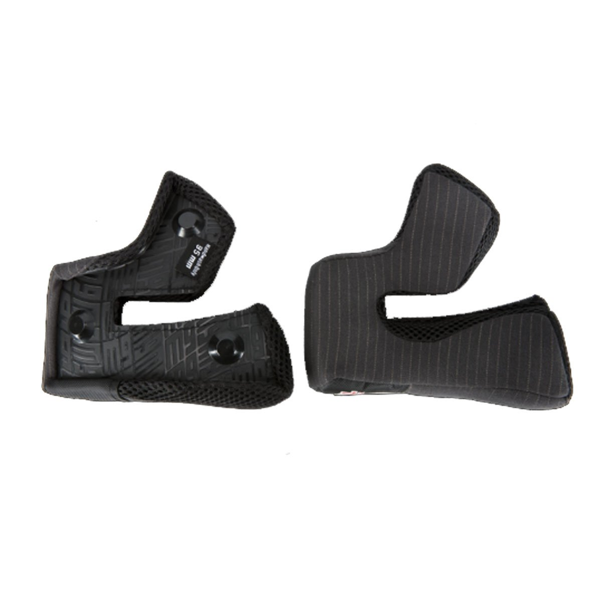 Bell Powersports MOTO-9 Helmet Cheek Pad Set - One Size Fits All - 30mm - 8013425 (Black)