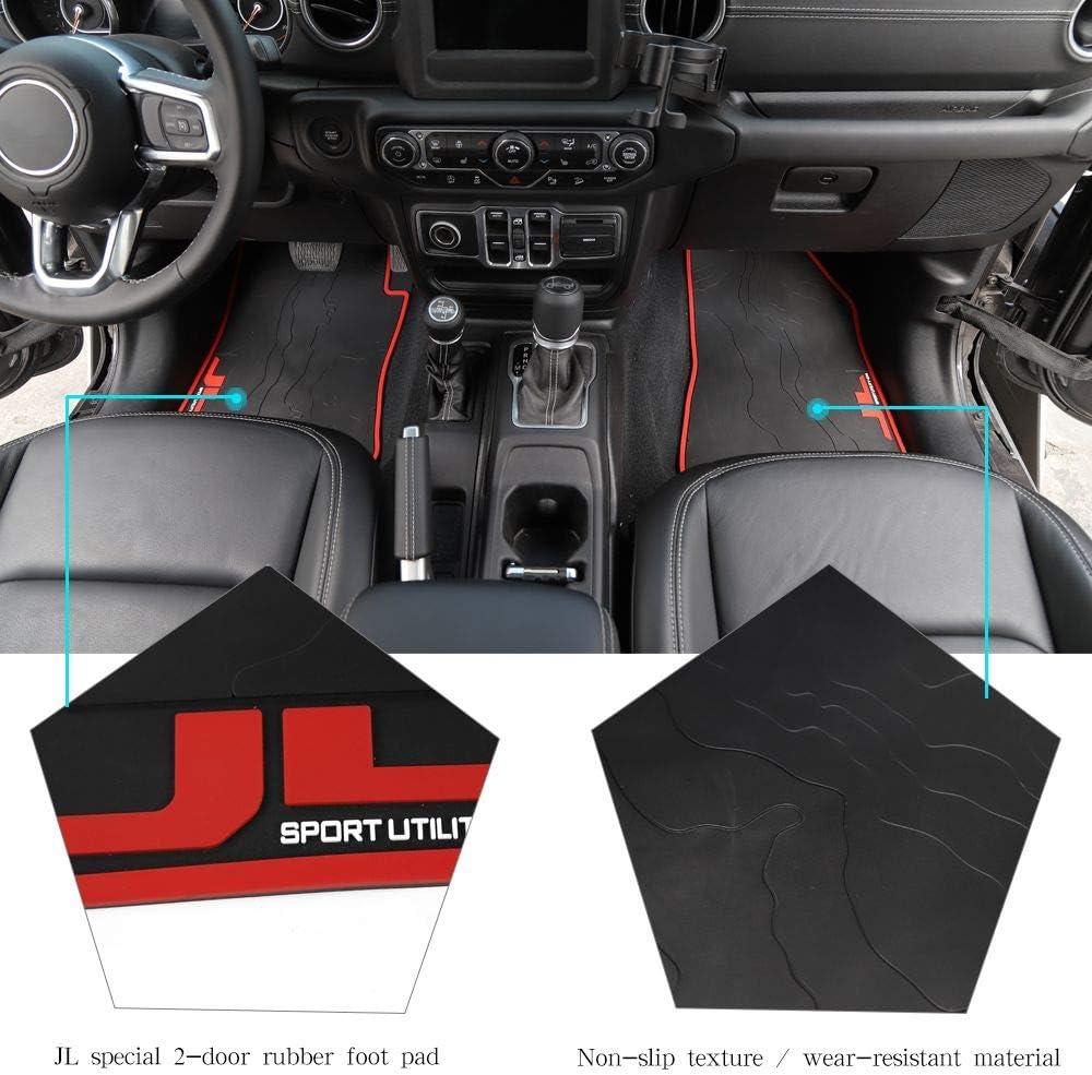 Black JL All Weather Floor Mats JeCar Heavy Duty Rubber Waterproof Floor Liners JL Front and Rear All Weather Floor Liners Compatible for 2018 2019 2020 Jeep Wrangler JL Unlimited 4-Door