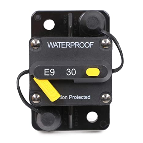 T Tocas 30 Amp Surface-Mount Circuit Breakers with Manual Reset, 12V- 72V  DC, Waterproof (30A)