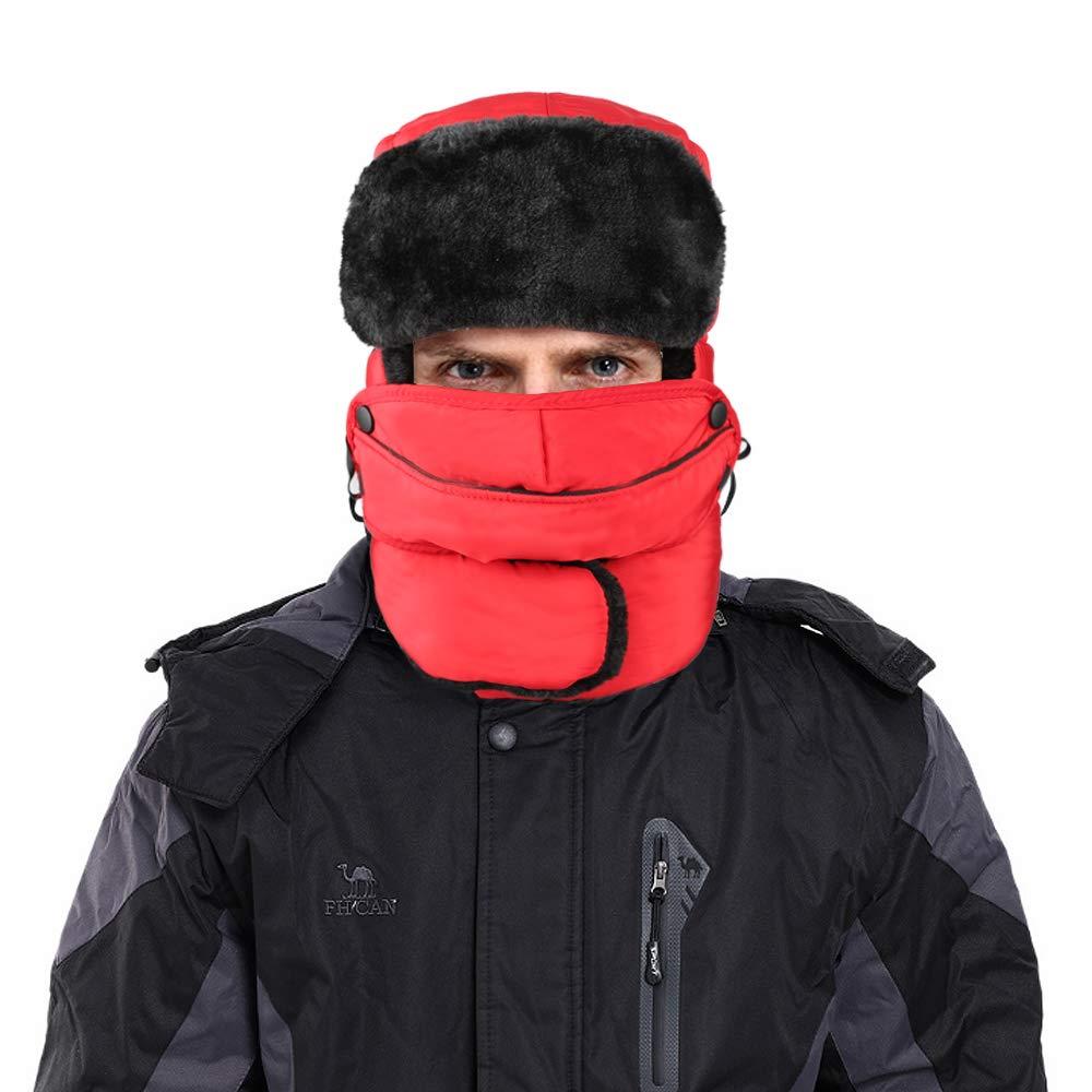 XIAOYAO Cappello Aviatore Impermeabile Anti-Vento Caldo Berretti Invernali  para Uomo e Donna f02ecdbbeba1
