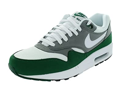 brand new b4d22 b3fe6 Nike Mens Air Max 1 Essential White Mercury Grey Gorge Green White 537383