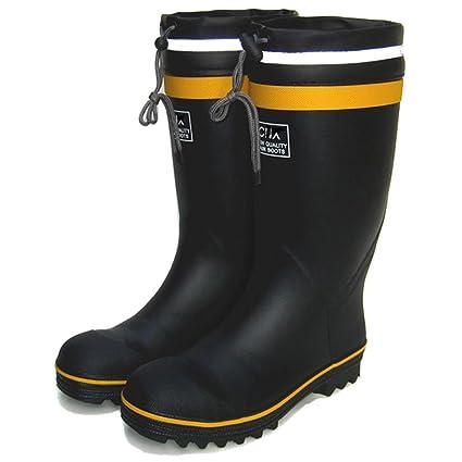 Botas de lluvia alta Zapatos impermeables Zapatos de seguridad del sitio Zapatos de seguridad Botas de