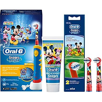 Set ahorro: Oral-B Stages Power Kids Mickey Mouse Club House Cepillo de dientes