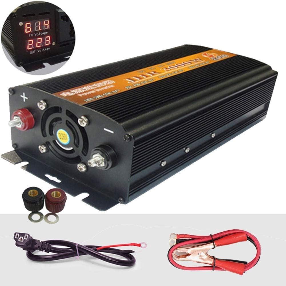 Met lcx 500W 1200W 1700W 2200W 3000W 4000W Portable Auto Car Power Inverter,Dc 36V 48V 60V 72V to 220V Ac Power Converter Dual Ac Outlets 72V-2200W