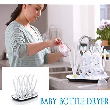 Detailorpin Baby Bottle Drying Rack Drainage Dust-Proof Drying Rack