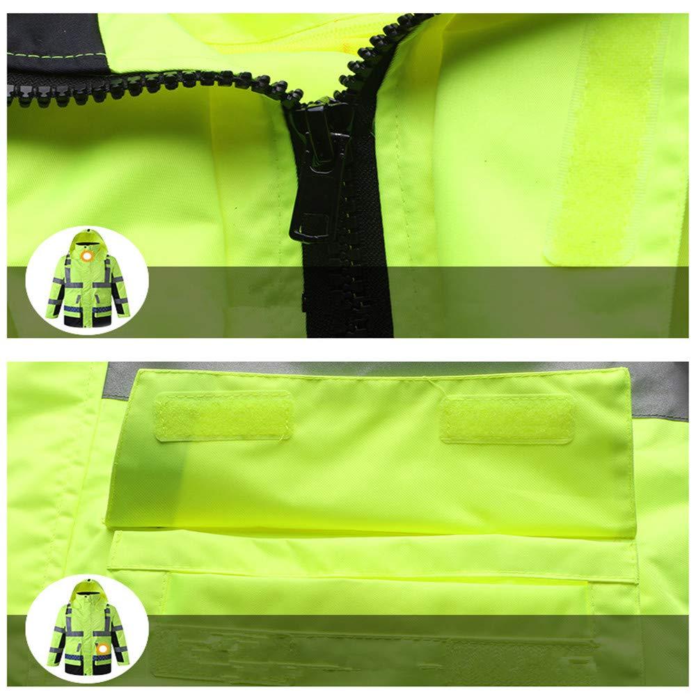 SXZHSM-Toy model Detachable Cotton Coat, Reflective Raincoat, Reflective Clothing, Traffic Duty, Raincoat, Construction, Raincoat, Riding Raincoat Reflective Vests (Size : XL) by SXZHSM-Toy model (Image #5)