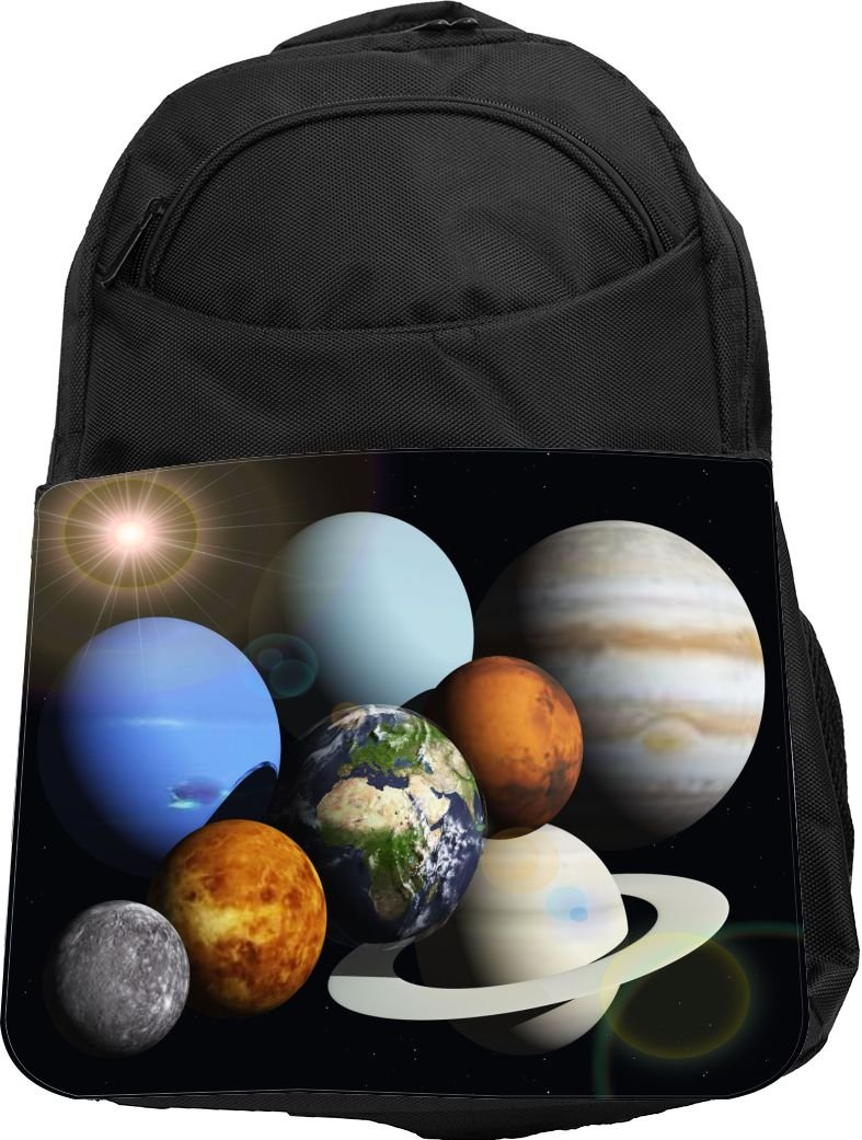Rikki Knight UKBK Solar System Planets Superstrong BackPack - Padded for Laptops & Tablets Ideal for School or College Bag BackPack