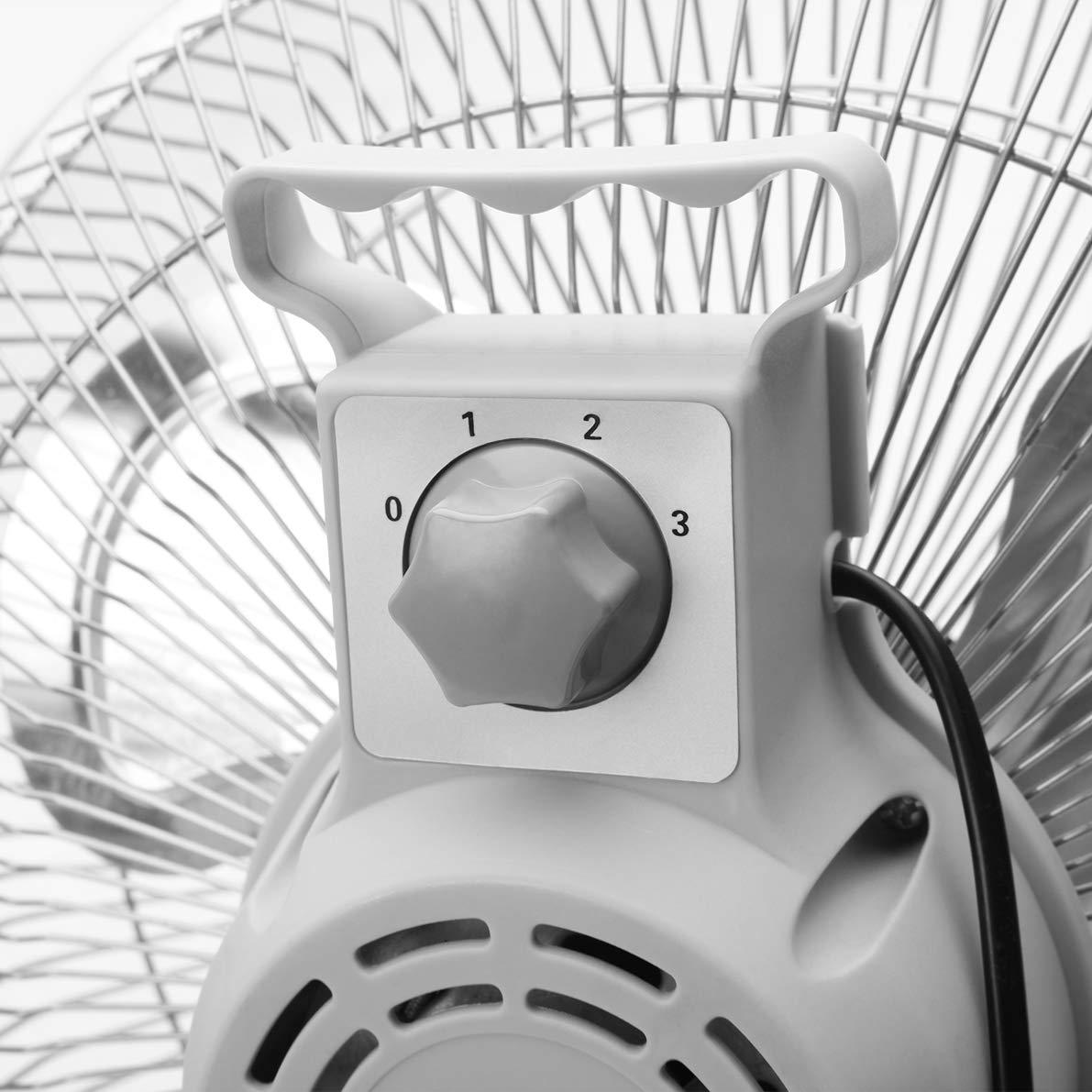 puissance 80 W Orbegozo PW 1245 Ventilateur industriel Power Fan avec inclinaison orientable 3 vitesses de ventilation grille de s/écurit/é pales m/étalliques de 45 cm poign/ée de transport