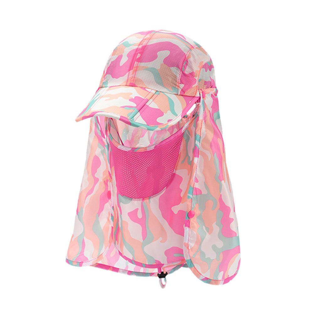 TKAS Sun Caps Fishing Hats Sports Outdoor Folding with Removable Neck Face Flap Cover 360 Solar Protection UV 50 Sunscreen Garden Camouflage Mosquito Hiking Beach Desert
