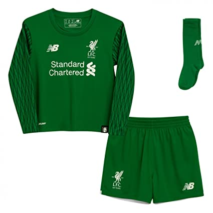 f553e950b Image Unavailable. Image not available for. Color  New Balance 2017-2018  Liverpool Home Goalkeeper Mini Kit