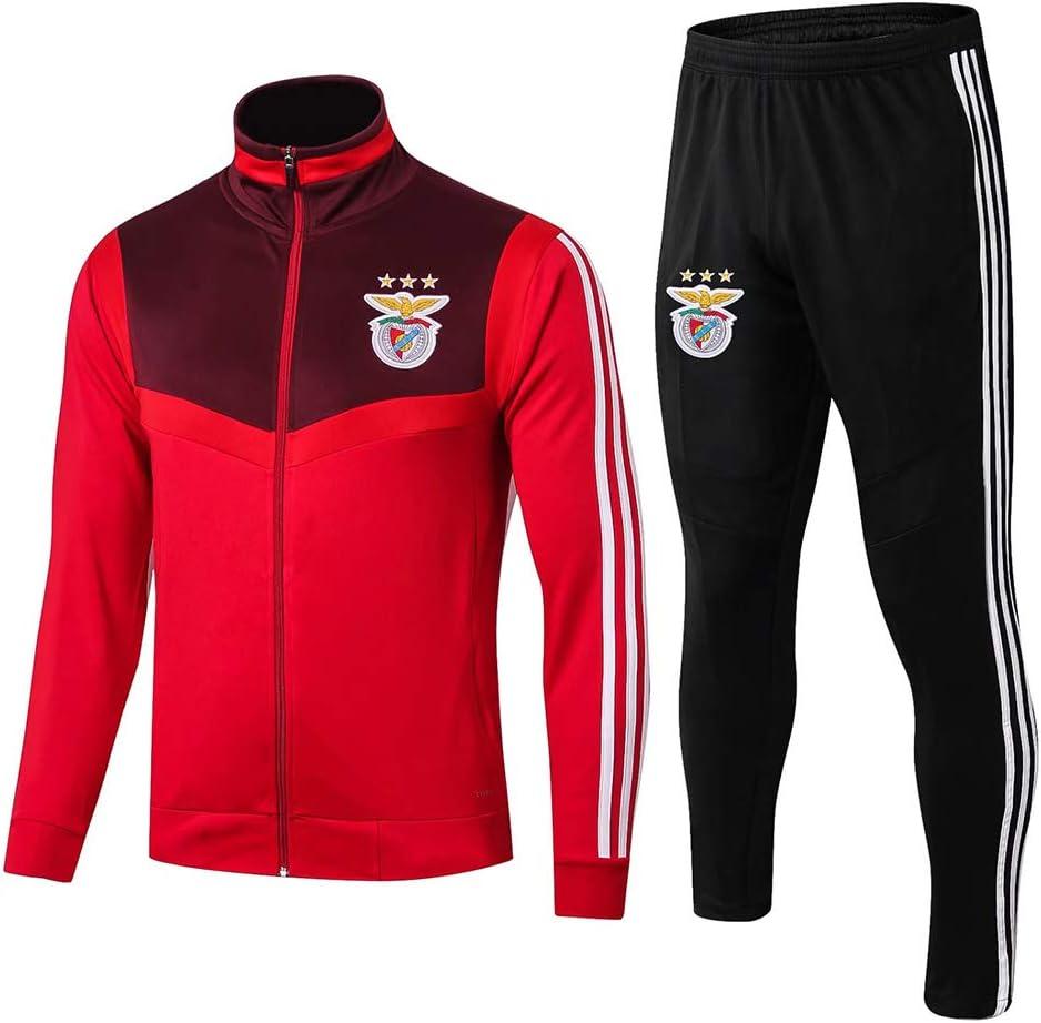 WEF SL Benfica Club Fu/ßball Langarmtrikot Sportbekleidung Trainingsanzug Wettkampfanzug Herren Herbst Sportjacke 2-teiliges F/útbol Ropa Deportiva Red-M