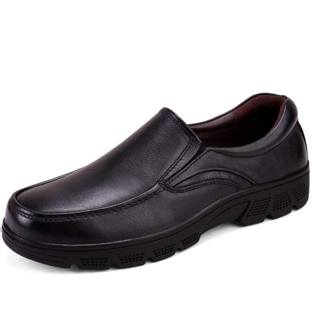 Xxoschuhe Herren Leder Oxford Schuhe Hochzeit Schuhe Lace up Cap Smoking Formelle Kleid Schuhe - schwarz braun