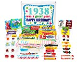 Woodstock Candy 1938 80th Birthday Gift Box – Vintage Retro Candy Assortment From Childhood for 80 Year Old Man or Woman